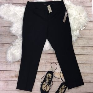 NWT LOFT  SZ 6P BLACK PANTS